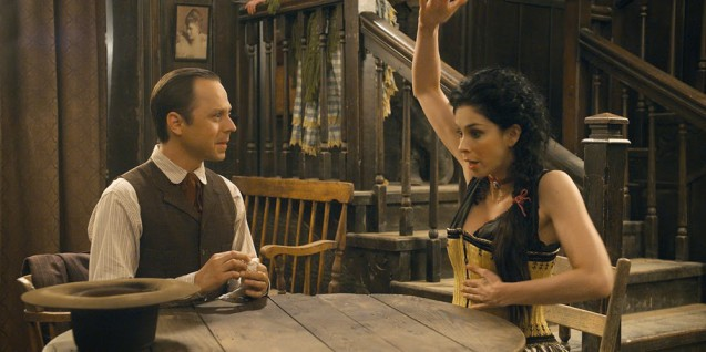 A Million Ways to Die in the West Sarah Silverman and Giovanni Ribisi