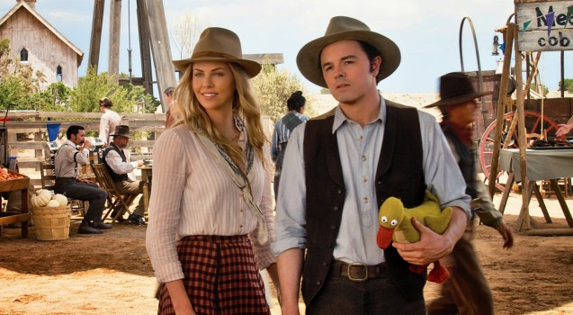 A Million Ways to Die in the West Seth MacFarlane and Charlize Theron 1