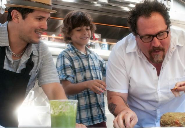 Chef John Leguizamo Emjay Anthony and Jon Favreau