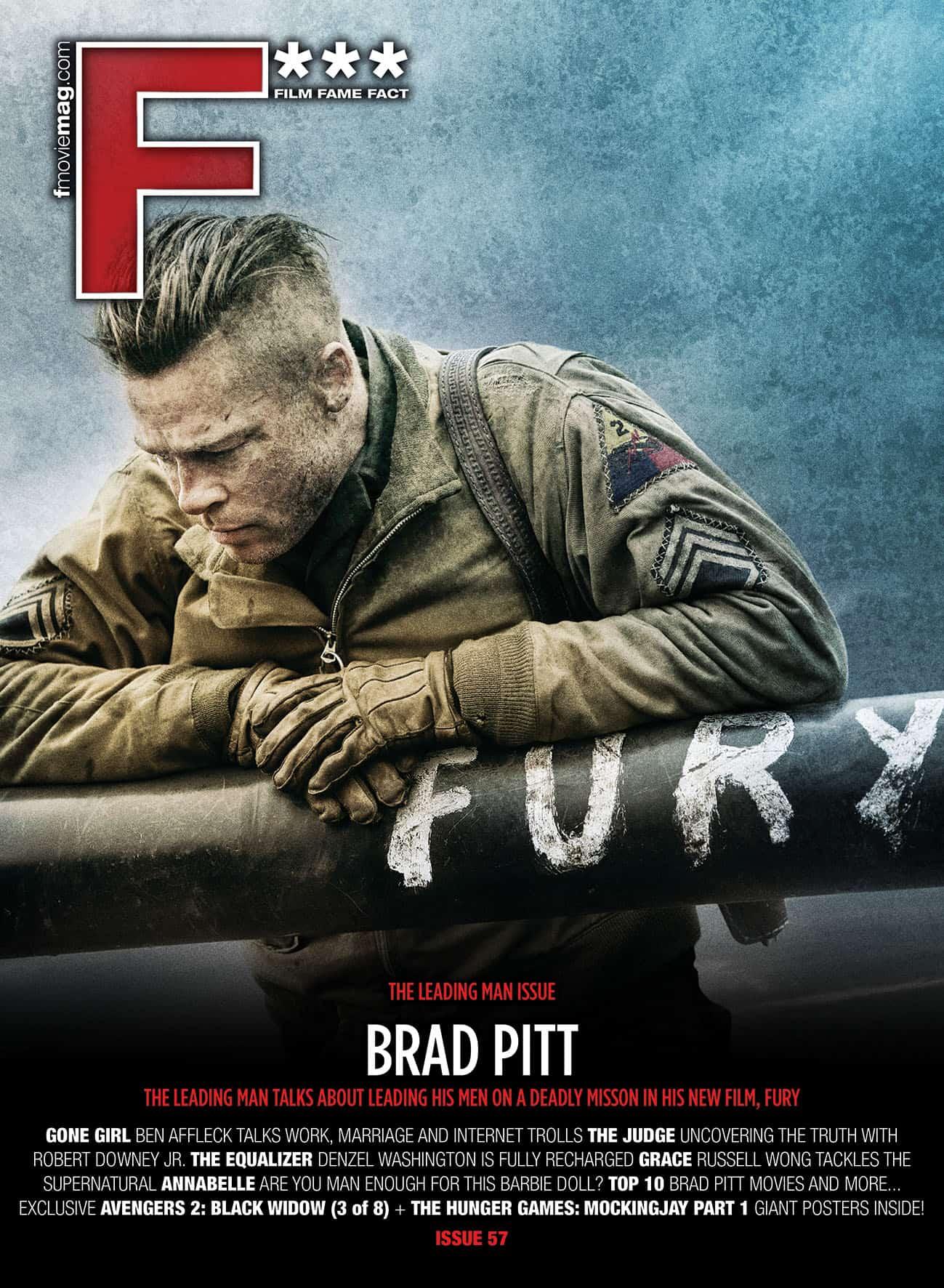 #57 (Oct 2014) Brad Pitt fronts F*** Magazine's Leading Man issue