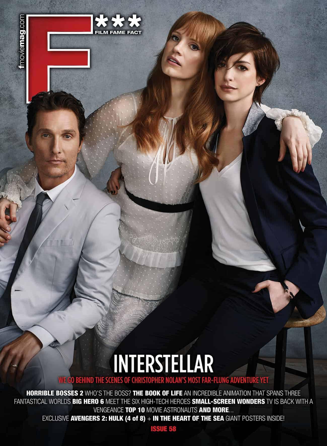 #58 (Nov 2014) Matthew McConaughey, Jessica Chastain and Anne Hathaway cover F*** Magazine's INTERSTELLAR issue