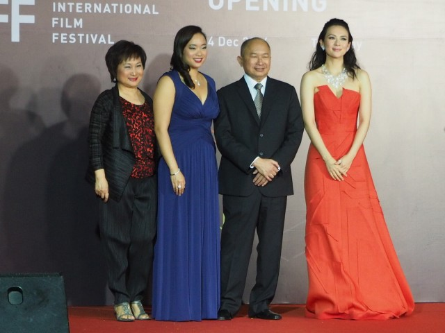 Annie Woo, Angeles Woo, John Woo and Zhang Ziyi