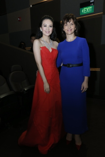 Zhang Ziyi with Juliette Binoche - photo credit Bonnie Yap