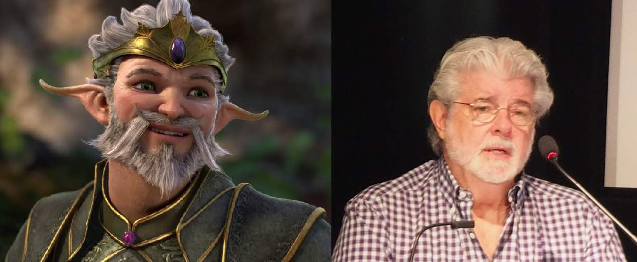 George Lucas and Fairy King comparison