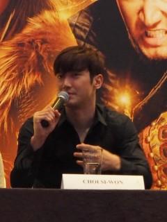 Dragon Blade press con - Choi Siwon