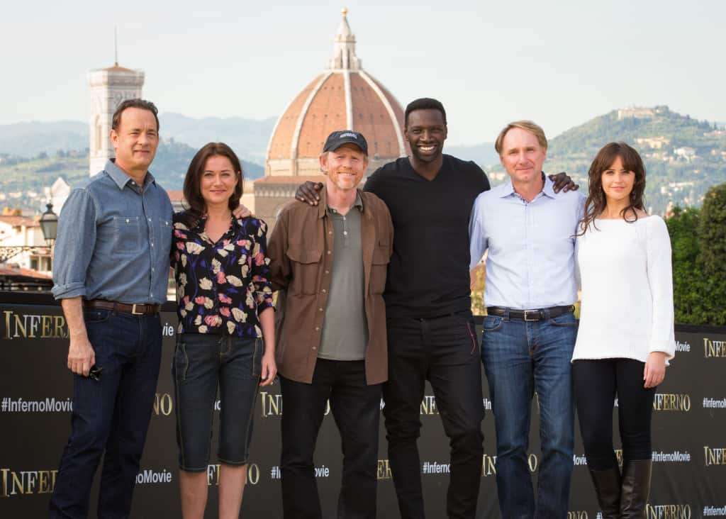 Inferno – Photo call and video from the set in Florence