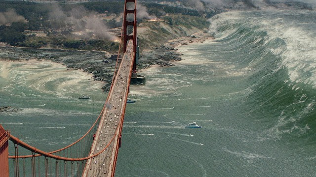 San Andreas Golden Gate Bridge tsunami