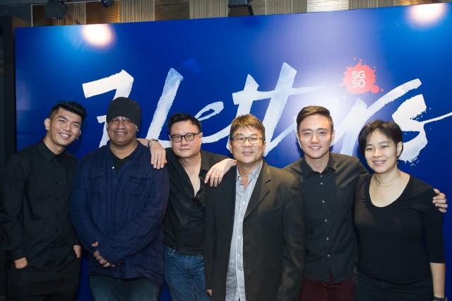 L-R: Royston Tan, K Rajagopal, Eric Khoo, Jack Neo, Boo Junfeng, and Tan Pin Pin,