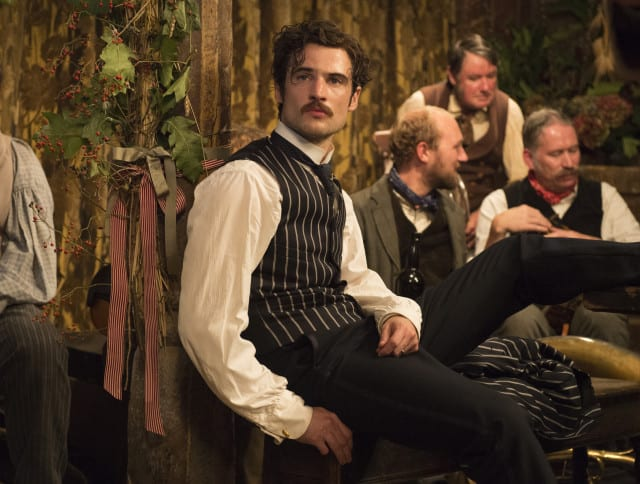 """Tom Sturridge as """"Sergeant Troy"""" in FAR FROM THE MADDING CROWD. Photos by Alex Bailey.  © 2014 Twentieth Century Fox Film Corporation All Rights Reserved"""