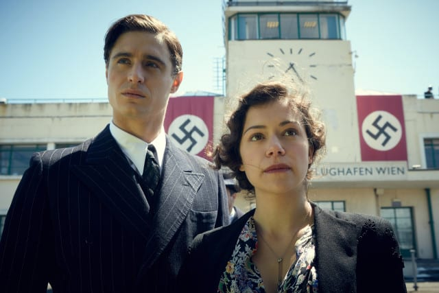 MAX IRONS and TATIANA MASLANY star in WOMAN IN GOLD