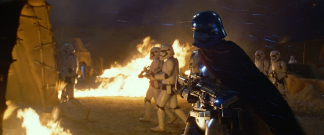 Star Wars: The Force Awakens Captain Phasma (Gwendoline Christie) Ph: Film Frame © 2014 Lucasfilm Ltd. & TM. All Right Reserved..