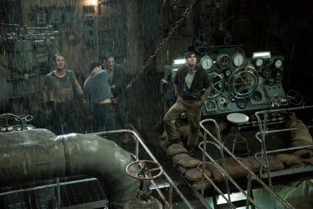 The Finest Hours - Ray Sybert (Casey Affleck) and Tchuda Sutherland (Josh Stewart) struggle to keep their ship, the SS Pendleton, from sinking in Disney's THE FINEST HOURS, the heroic action-thriller based on the extraordinary true story of the most daring rescue mission in the history of the Coast Guard.