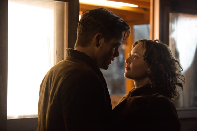 The Finest Hours - Chris Pine stars as Bernie Webber and Holliday Grainger as Miriam in the heroic action-thriller THE FINEST HOURS, based on the extraordinary true story of the most daring rescue mission in the history of the Coast Guard.