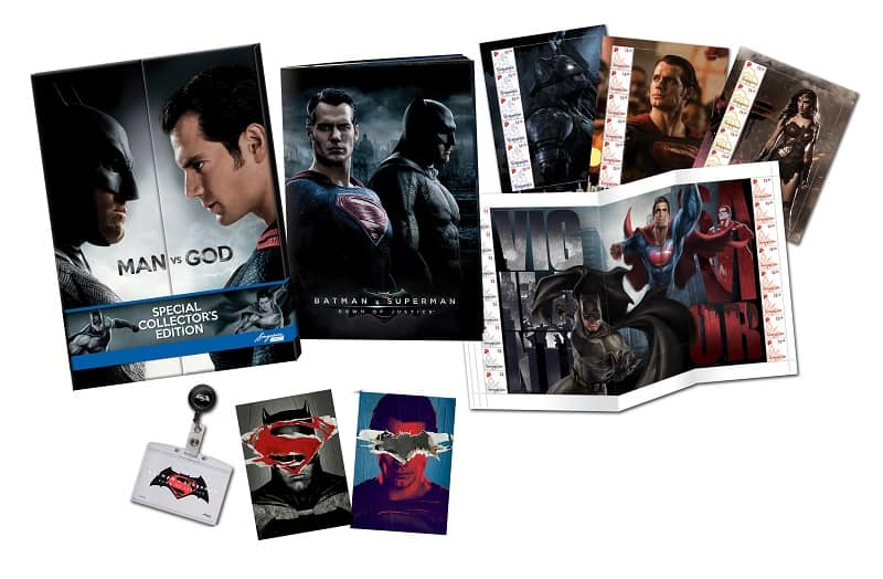 SingPost Batman v Superman MyStamp Collection