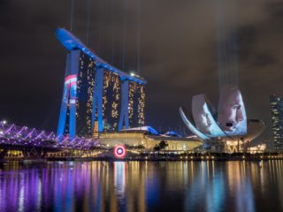 Team Cap takes over the Marina Bay Sands skyline