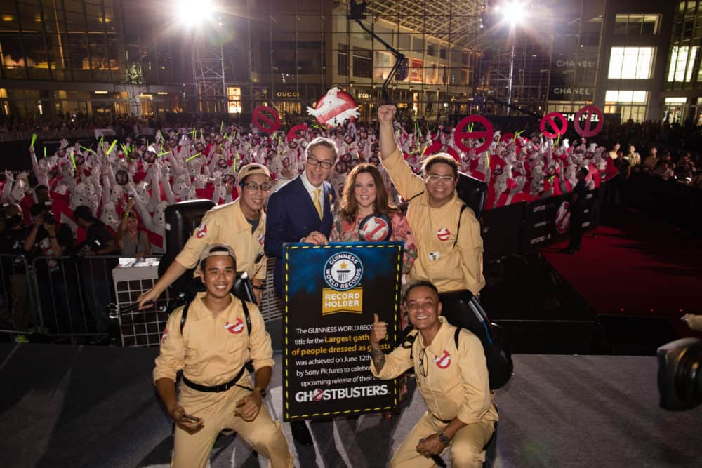 """""""Ghostbusters"""" Red Carpet And Guinness World Record event, Marina Bay Sands, Singapore"""