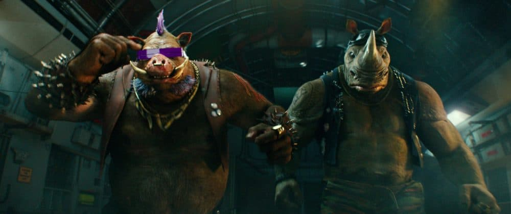 Bebop and Rocksteady in Teenage Mutant Ninja Turtles: Out of the Shadows