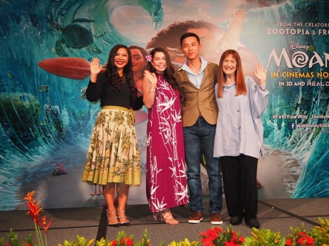 WAVERIDERS: The star and filmmakers of Disney's Moana island-hop to Singapore