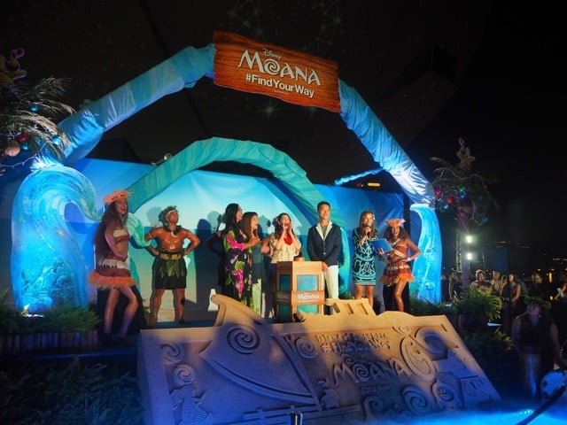 IGNITE THE TIKI TORCH: The stars and filmmakers of Moana light up the ArtScience Museum