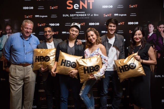 Cast from HBO Asia's SeNT in Singapore